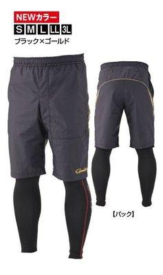 《三富釣具》GAMAKATSU  短褲套裝(黑金)2件式 GM-3572 LL號 商品編號606614