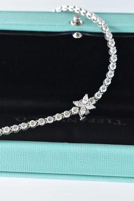 (全新) Tiffany PT950 Victoria 3.26克拉,維多利亞白金馬眼鑽石手鍊,原價60萬