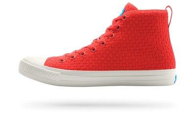 =CodE= PEOPLE FOOTWEAR PHILLIPS HIGH 輕量編織休閒鞋(紅白)NC01H-007.男女
