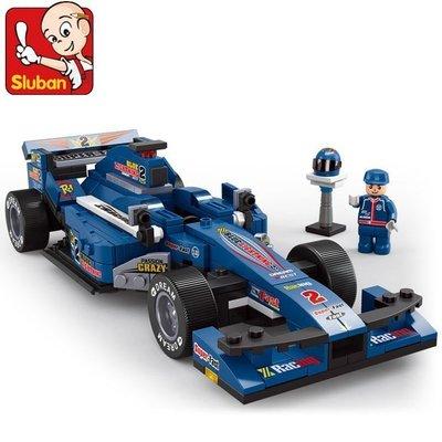 【優上精品】小魯班賽車系列 F1方程式 益智玩具 啟蒙模型拼裝積木(Z-P3266)