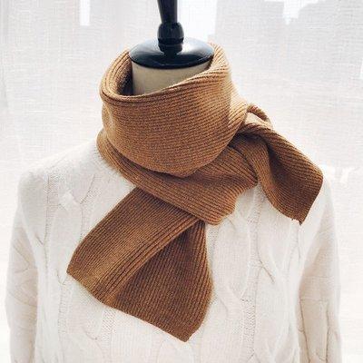 新品上市領帶女精梳針織簡約短小圍巾男女冬季加厚純色毛線chic日系圍脖學生韓版