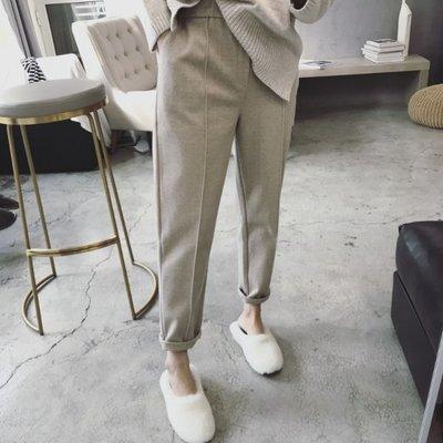 【Casi Cielo】181107韓國訂單 自留 超質感 簡約氣質 立體打褶線條設計 百搭 舒適 毛尼褲 長褲