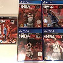 PS4 美國職業籃球 NBA 2K13, 2K14, 2K15, 2K16, 2K17 (不給殺)