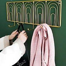 北歐創意玄關掛鉤掛鑰匙架客廳臥室衣帽架掛衣架門後牆壁壁掛牆上
