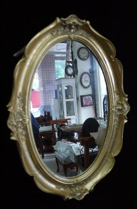 【布拉格歐風傢俱】法式宮廷風古典圓掛鏡