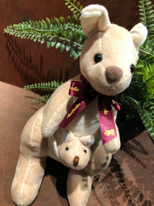 澳洲袋鼠娃娃-(紫色緞帶版)澳洲製造