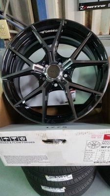 升逸精品輪胎館 MAHOM MF01 旋壓輕量鋁圈 17吋5H108*ET40*7.5J