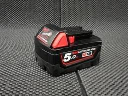 【專營工具】全新 米沃奇 18V M18 5.0Ah 原廠電池 容量顯示 另售米沃奇充電器