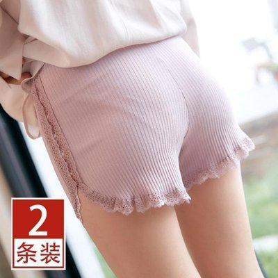 內褲 安全褲防走光女夏純棉不卷邊可外穿打底褲內搭蕾絲保險褲薄款大碼