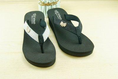 好望角鞋屋    厚底涼拖鞋(6492)21顏色:黑色,銀色尺寸:36~40