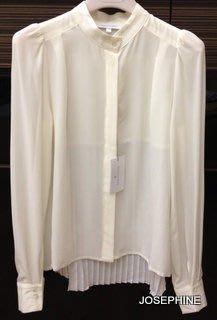 喬瑟芬【PATRIZIA PEPE】現貨~2013秋冬 米白色 SILK 長袖襯衫(38~40號)