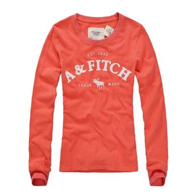 Abercrombie&Fitch AF麋鹿款式,美國麋鹿女生長袖T恤纯棉休閒T恤 【A&F全新品】