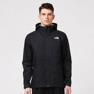 外貿tnf戶外休閑單衣夾克男士純色基礎款開衫防水防風透氣沖鋒衣