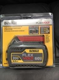 全新 DEWALT 得偉 20V/60V 6.0 DCB606 鋰電池 帶電顯