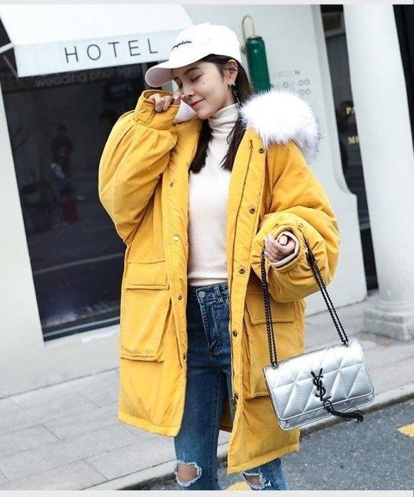 BELOCO 刷毛外套冬裝新款韓版大口袋羽絨外套棉服中BE655