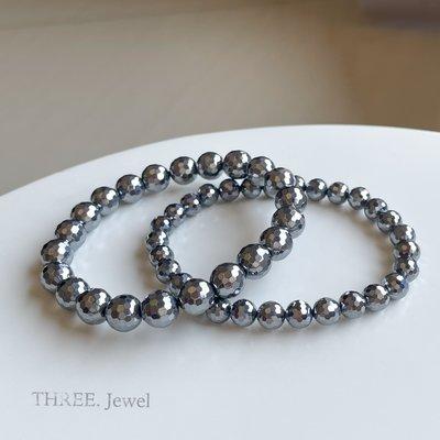 【THREE.Jewel】鈦赫茲 6mm日本鈦赫茲 鑽切 能量磁石  太赫茲  可融冰 切面 高品 手珠 手鍊 彡彡水晶