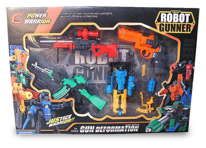 可變形玩具槍變體組 變形機器人禮盒裝