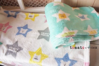 ˙TOMATO生活雜鋪˙日本進口雜貨秋冬限定CRAFTHOLIC宇宙人星星造型圖樣毛毯 蓋毯
