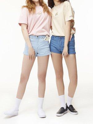 ☆AirRoom☆【現貨】WHITE BLANK Junk Point Tee 兩色 韓國 女生 短T 粉紅 米色