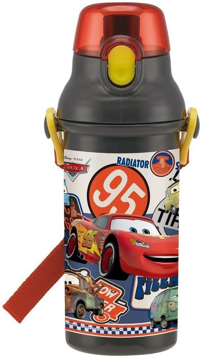 日本製迪士尼cars tomica 神奇寶貝 巧虎 麥昆兒童直飲式水壺480ml日本冷水壺直飲式水壺水杯~現貨