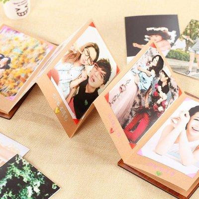 diy手工相冊手風琴創意5寸相冊本插入式折疊粘貼式生日禮物禮品