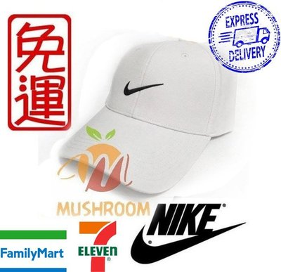 全新 現貨 白色 NIKE GOLF 棒球帽 魔鬼氈 帽子 遮陽 運動帽 高爾夫球 基本 素面 鴨舌帽 透氣 運動