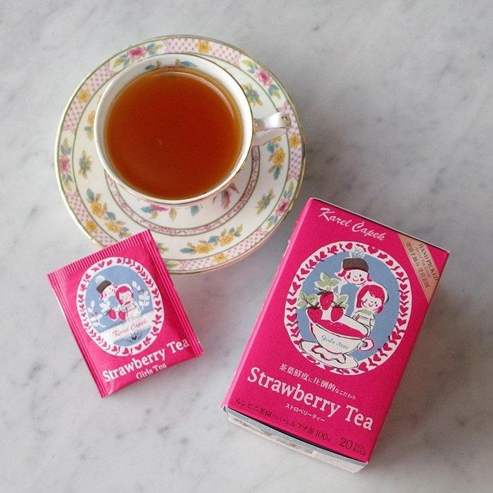 現貨 ◎日本◎ 山田詩子 Karel Capek 草莓女孩紅茶 20入 茶包