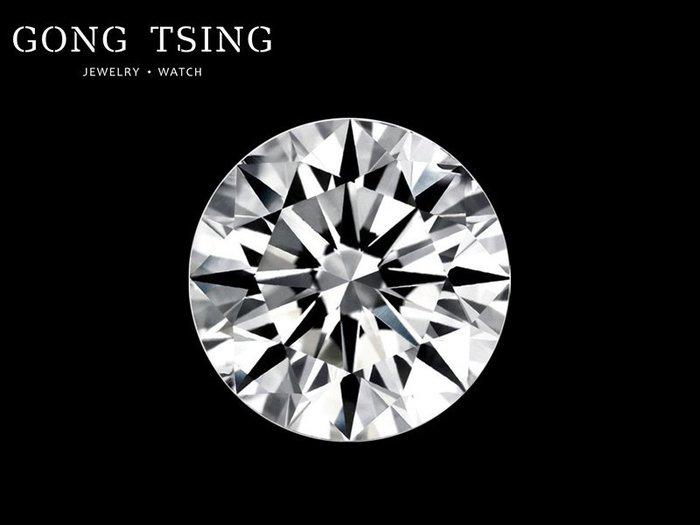 【公信精品】現貨 GIA 0.34克拉 D/VS1/3EX/無螢光 天然圓形鑽石裸石 八心八箭 30分裸石 歡迎來電洽詢