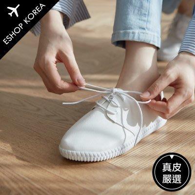 真皮大尺碼 【PA999】韓國真皮綁帶尖頭腳底弧度舒適休閒鞋 依shop