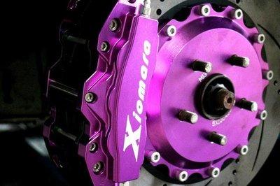 【Xiomara GT】煞車 卡鉗 活塞 TOYOTA ALTIS 330劃線打洞碟盤 街道版-中六卡鉗 陽極紫