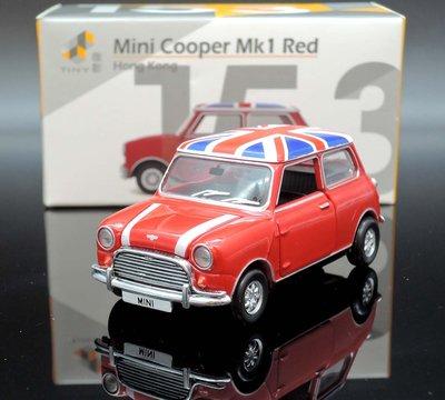 【M.A.S.H】現貨特價 TINY 城市 153 Mini Cooper Mk1 red 英國國旗車頂
