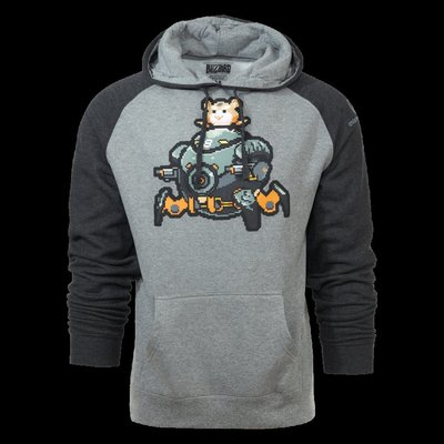 【丹】暴雪商城_Overwatch Wrecking Ball Pixel Pullover 鬥陣特攻 火爆鋼球 連帽T