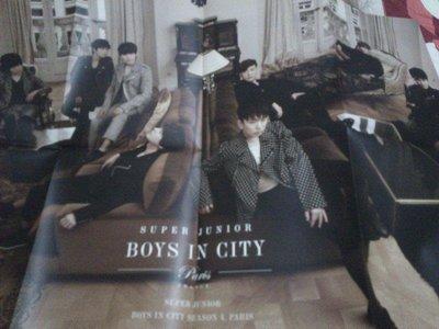 折疊式高級美術紙海報 SUPER JUNIOR7週年巴黎戀人寫真書Boys in City Season 4_Paris