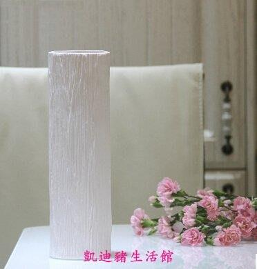 【凱迪豬生活館】圓柱陶瓷花瓶 歐式簡約白色陶瓷花瓶擺件 現代時尚家居裝飾品 圓柱型花器KTZ-201018