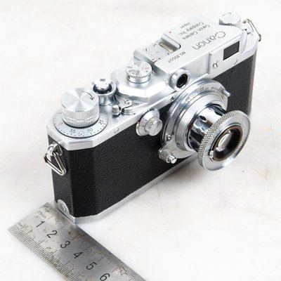 百寶軒 古董相機佳能Canon仿萊卡機械旁軸膠捲相機50mm3.5經典拉伸頭 ZG2303