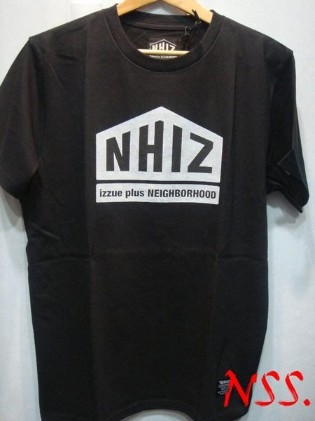 特價【NSS】NEIGHBORHOOD IZZUE NHIZ 五角 PRINT TEE 黑 白 M  L  XL 周柏豪