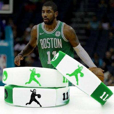 配飾 運動配飾 11號球星綠衫軍籃球運動手環德魯大叔天然硅膠腕帶可調節手鏈情侶
