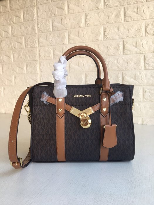 【紐約精品舖】MK女包  Michael Kors包包 鎖頭手提包 單肩斜跨包 美國Outlet代購100%正品 附購證