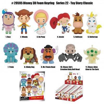 [Paradise] Toy Story - 迪士尼 3-D人偶鑰匙圈袋抽系列 22代 玩具總動員 - 隨機單抽