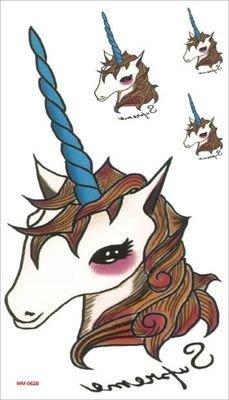 【萌古屋】M系列獨角獸 - 男女防水紋身貼紙原宿刺青貼紙WM-062B