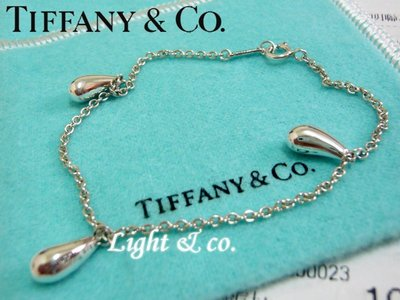 【Light & co.】專櫃真品 TIFFANY & CO 純銀 水滴 眼淚 淚滴 手鍊 tear ring