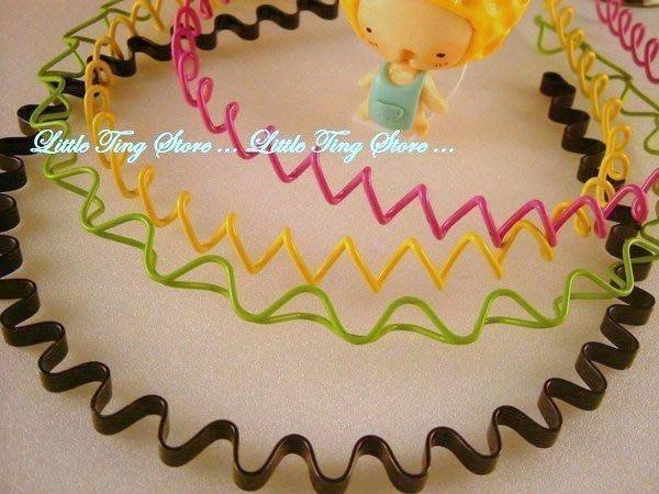 玩美糖果色彩超人氣男女可用 繞線螺旋式髮箍~電話線圈C髮圈 波浪髮造型 60