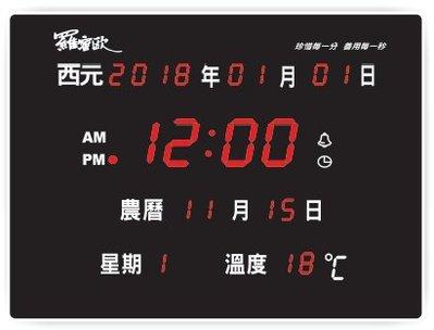 【通訊達人】NEW-789 羅蜜歐 LED 數位萬年曆電子鐘 插電式掛鐘 時鐘/鬧鐘/西元/報時/溫度/音樂