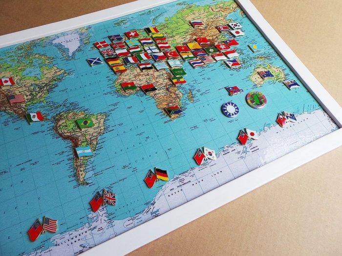 【國旗徽章達人】世界地圖國旗獎章組合/徽章/胸針/別針/勛章/胸章