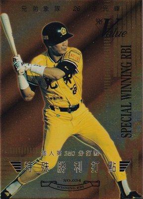 中華職棒六年 96 Value 兄弟象 王光輝 特殊勝利打點 生涯第250打點