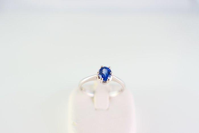 [吉宏精品交流中心]61分 天然藍寶石 白K金 戒指(禮物)