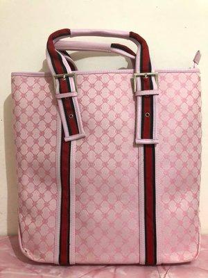 ~**粉紅魚兒**~ 時尚簡約圖騰大方款手提包