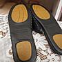 ~~凡爾賽生活精品~~全新手縫黑色皮革造型室內止滑拖鞋