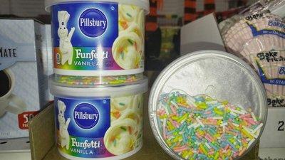 哈美族 美國代購 小麵人 香草口味奶油糖霜+彩糖顆粒(烘培蛋糕餅干或杯子蛋糕專用),