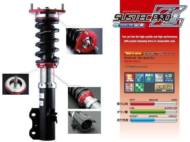 日本 Tanabe SUSTEC PRO Z1 避震器 Suzuki Swift 2005-2009 專用